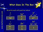 what goes in the box12