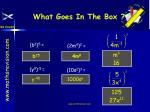 what goes in the box14