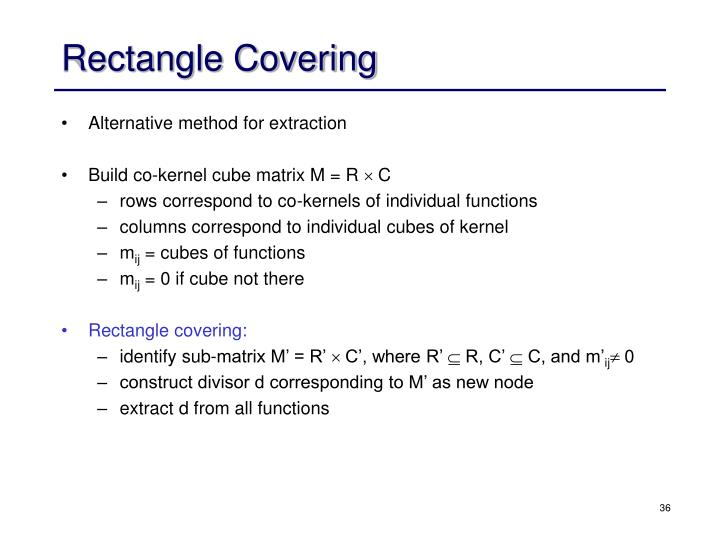 Rectangle Covering