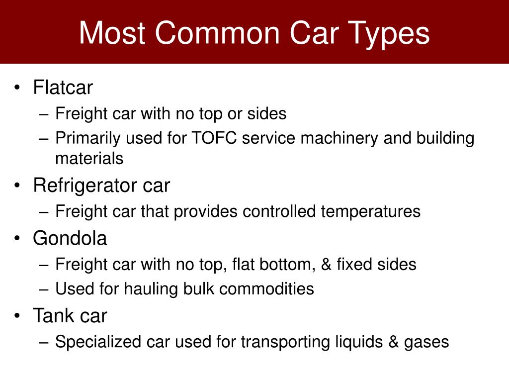 Most Common Car Types