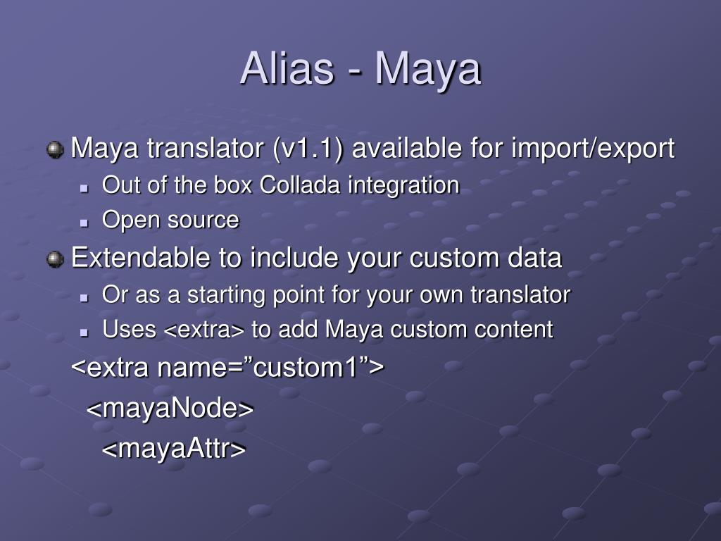 Alias - Maya