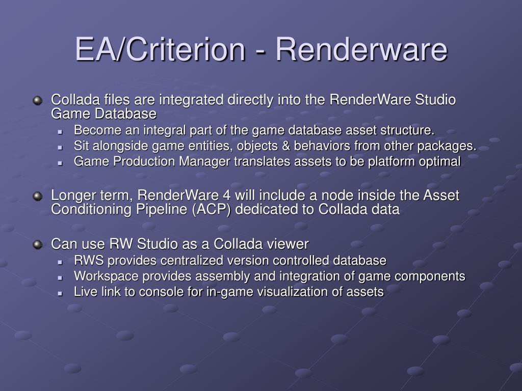 EA/Criterion - Renderware