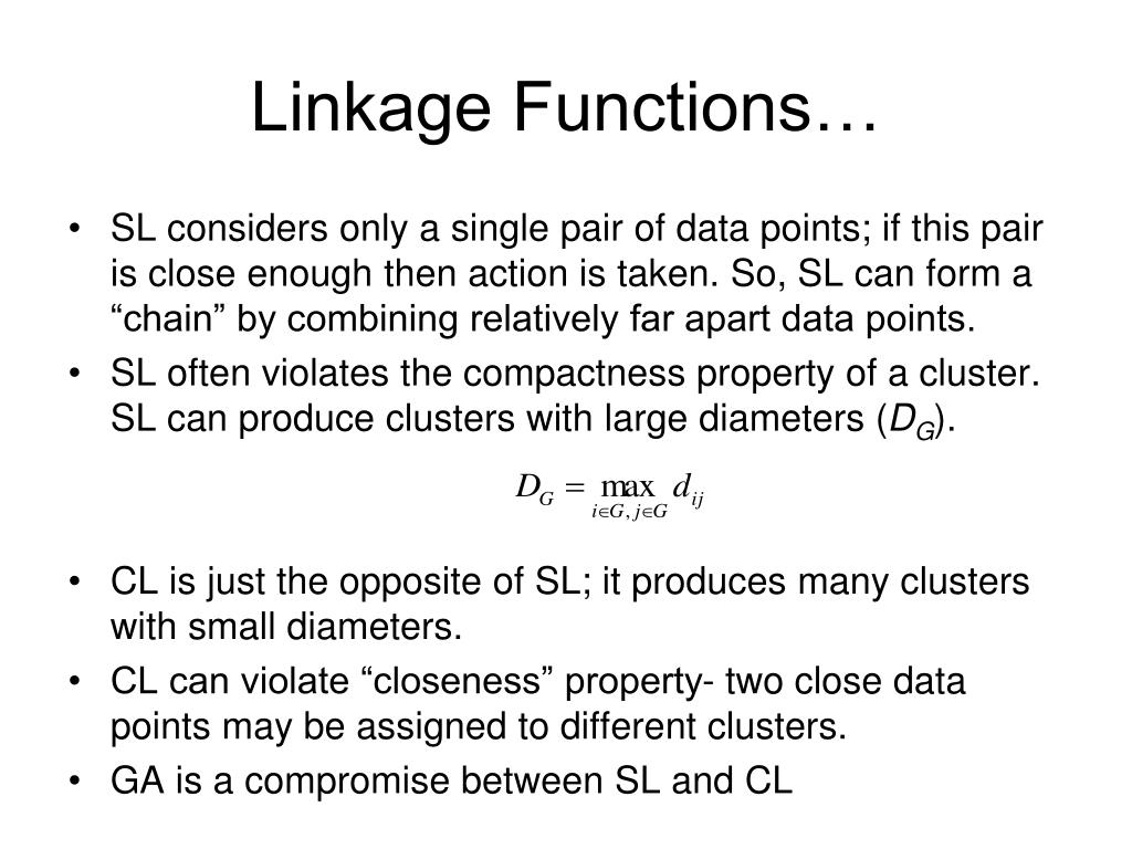 Linkage Functions…