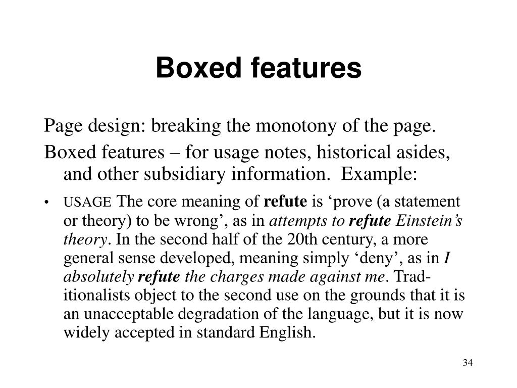 Boxed features