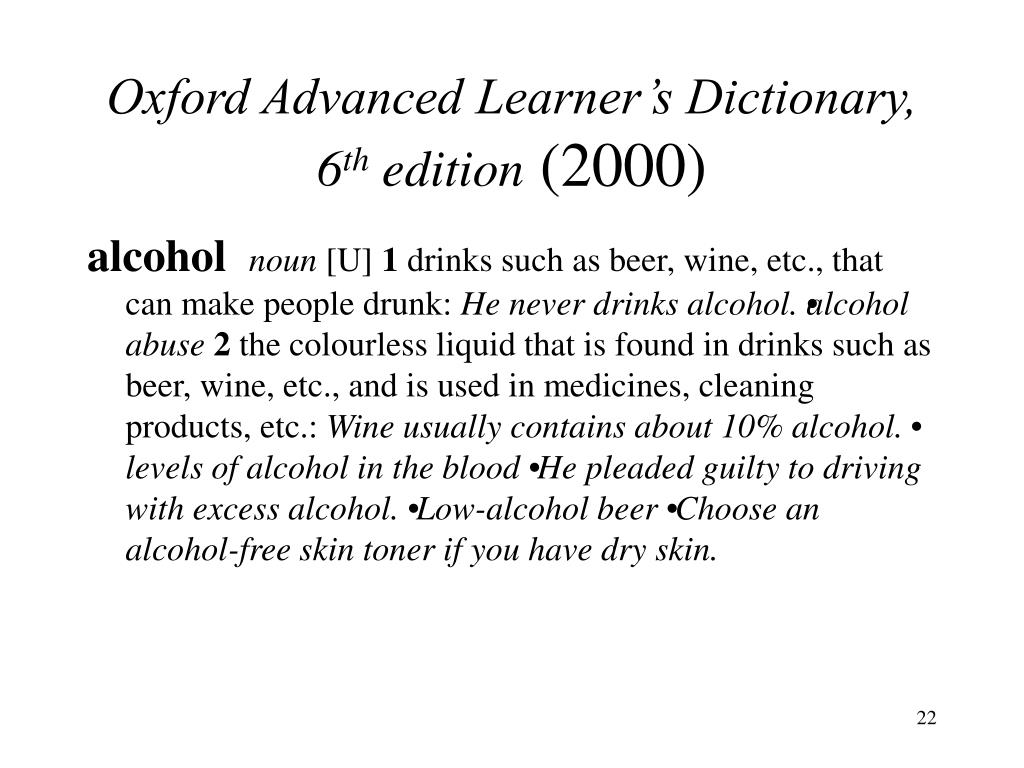 Oxford Advanced Learner's Dictionary, 6