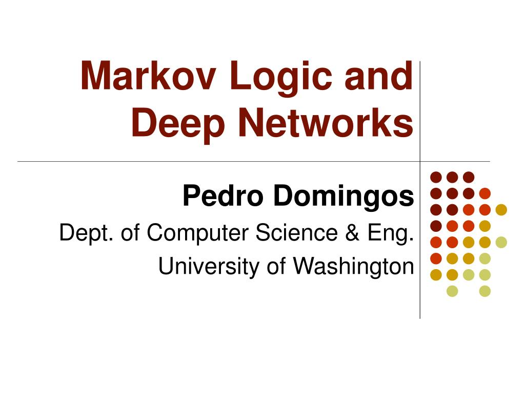 Markov Logic and Deep Networks