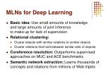 mlns for deep learning