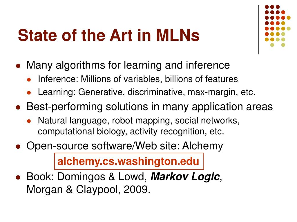 State of the Art in MLNs