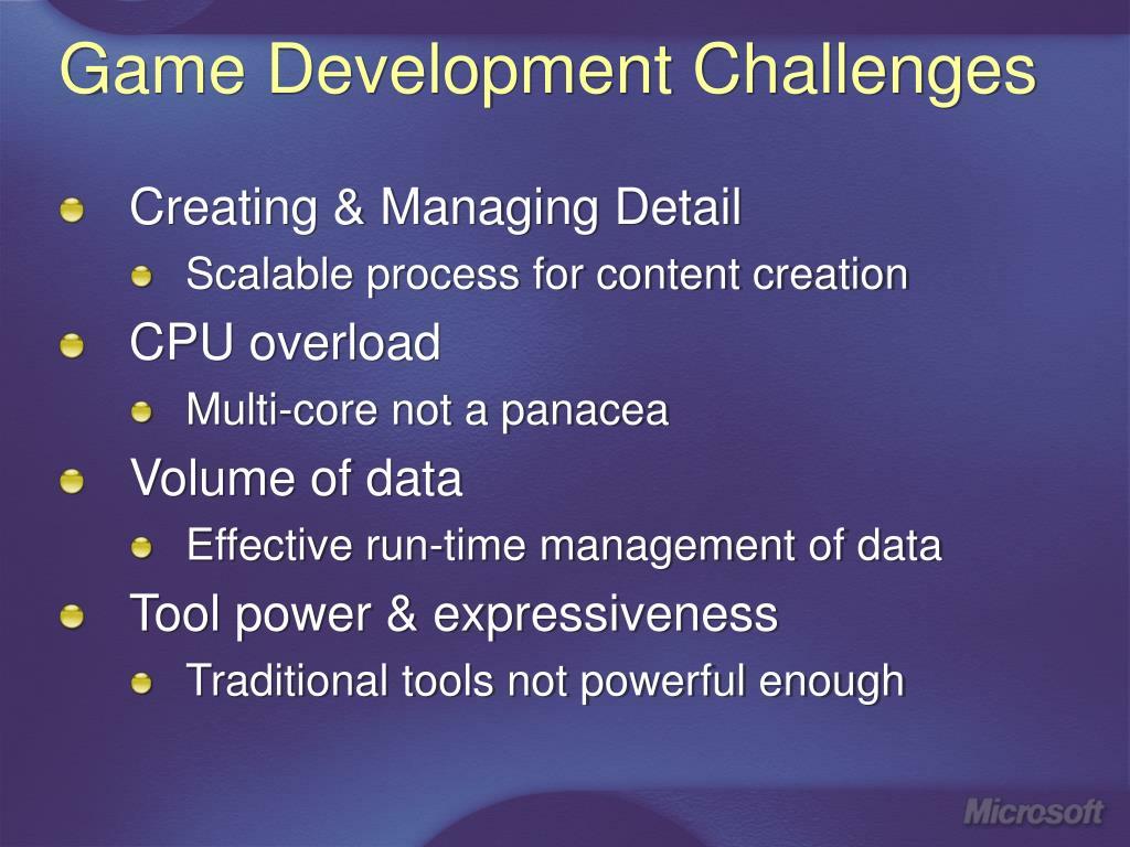 Game Development Challenges