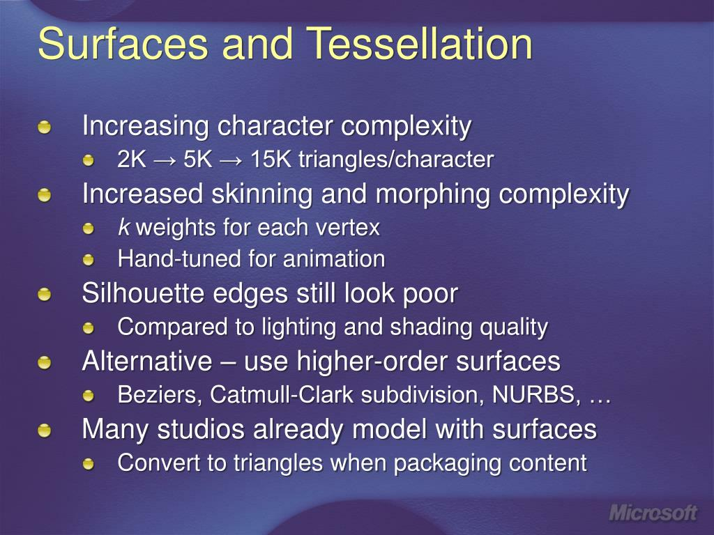 Surfaces and Tessellation