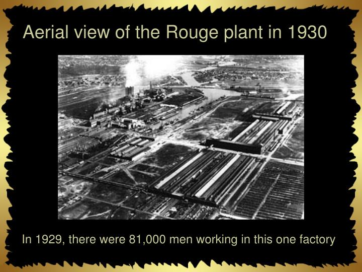 Aerial view of the Rouge plant in 1930