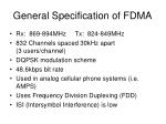 general specification of fdma