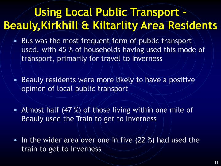 Using Local Public Transport –