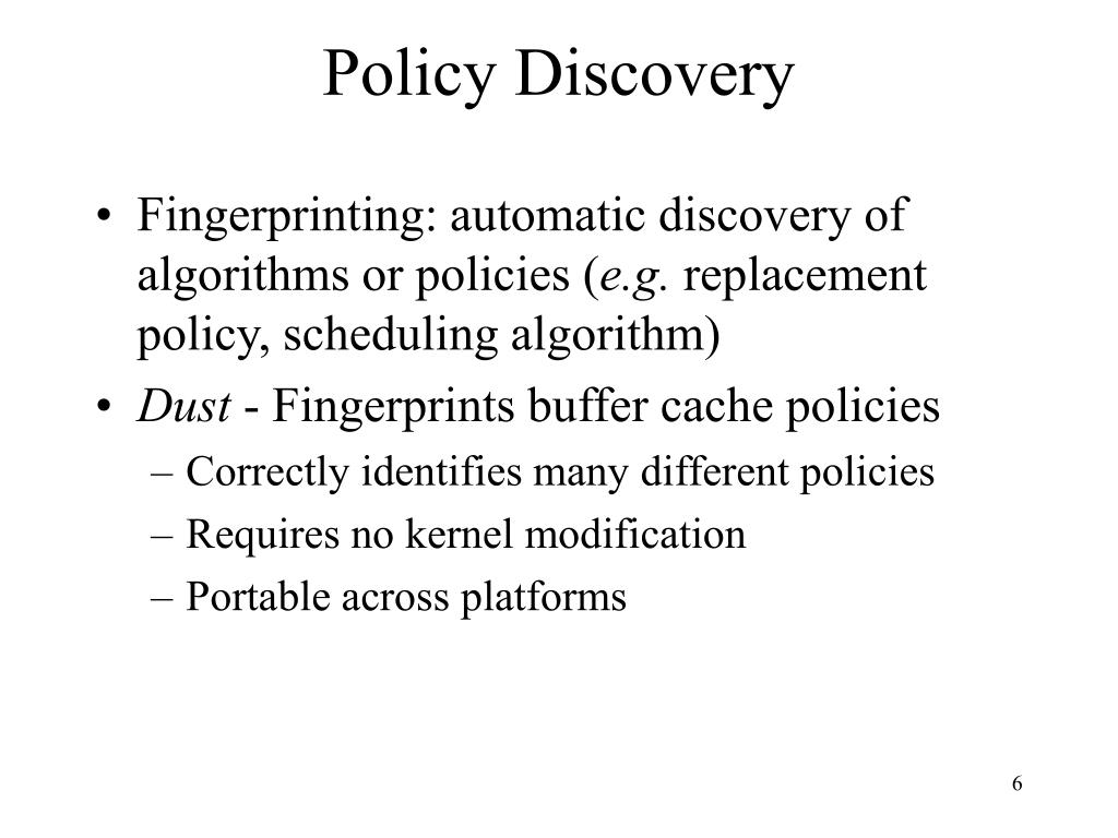 Policy Discovery