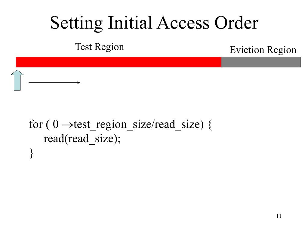 Setting Initial Access Order