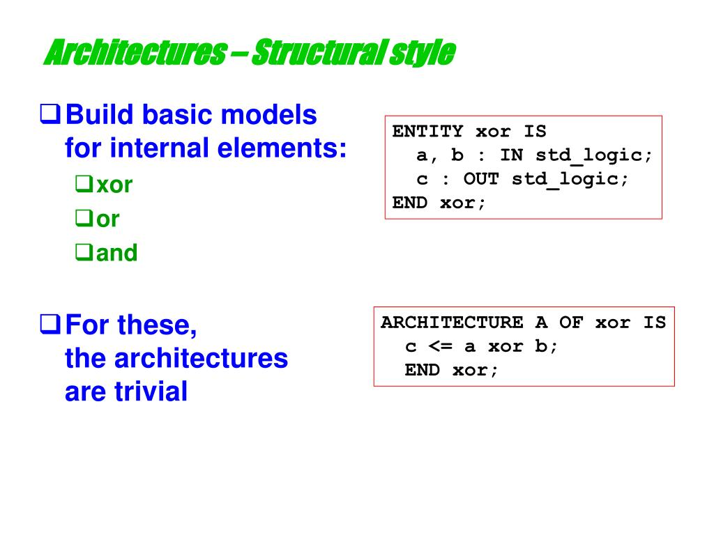Architectures – Structural style