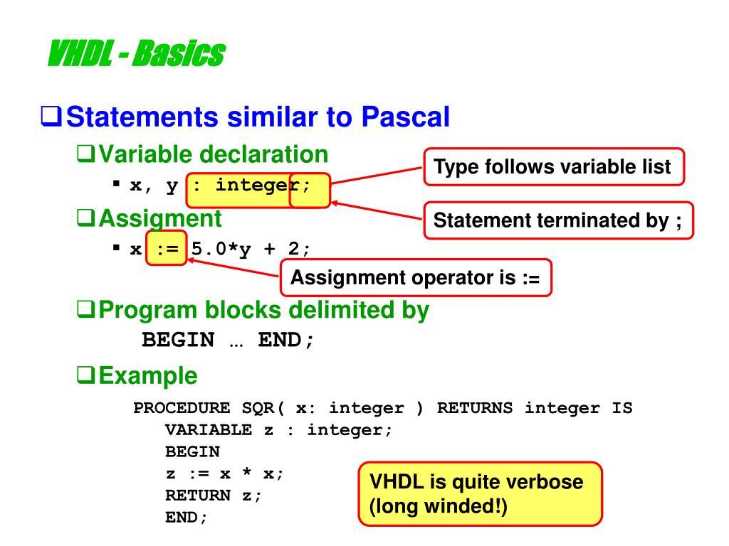 Type follows variable list