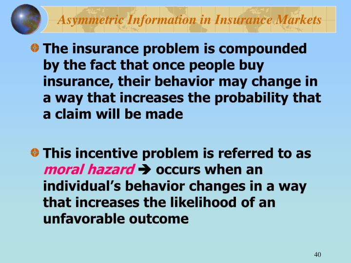 Asymmetric Information in Insurance Markets