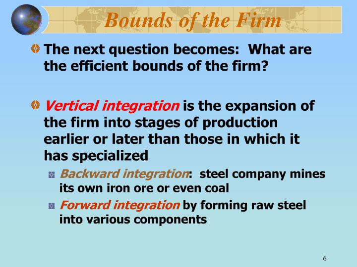 Bounds of the Firm