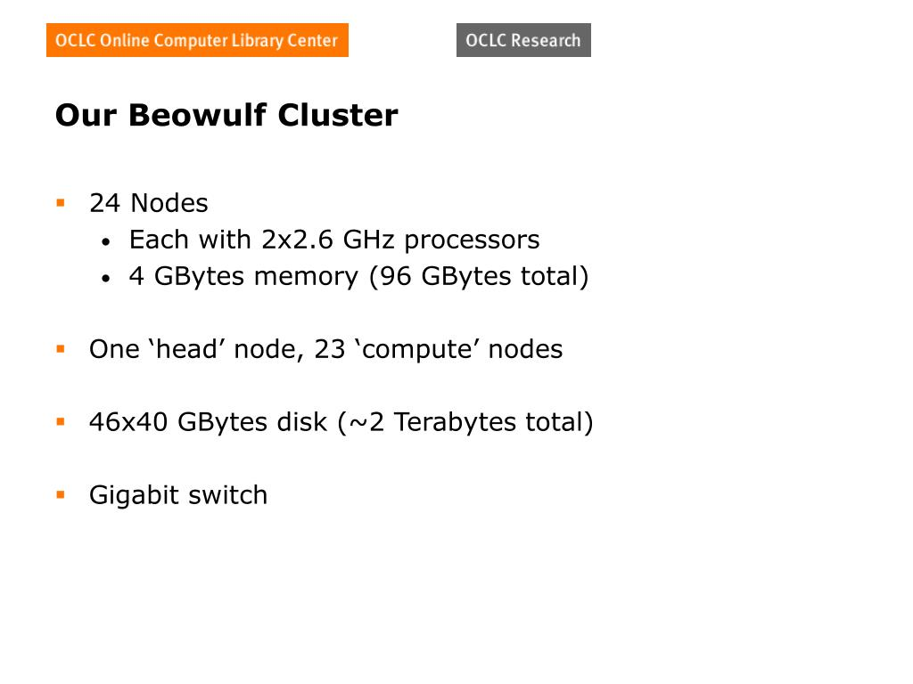 Our Beowulf Cluster