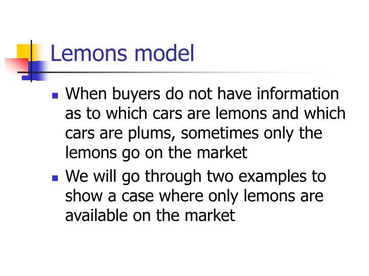 Lemons model