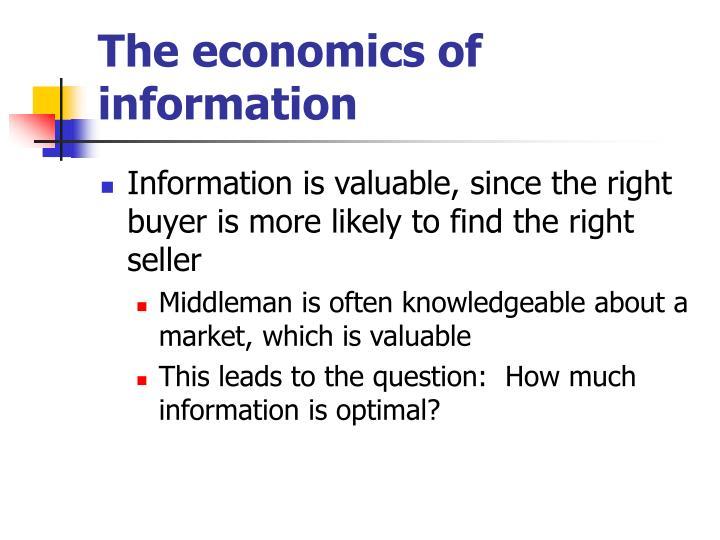 The economics of information