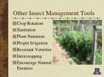 other insect management tools