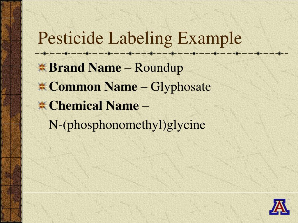 Pesticide Labeling Example