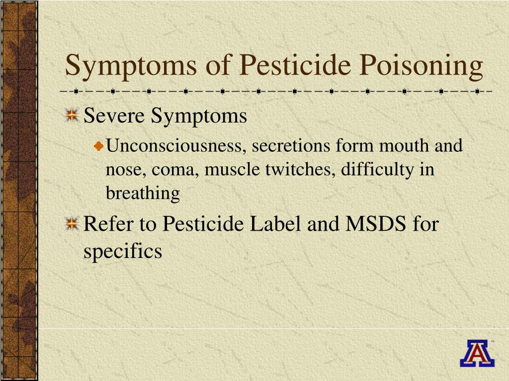 Symptoms of Pesticide Poisoning