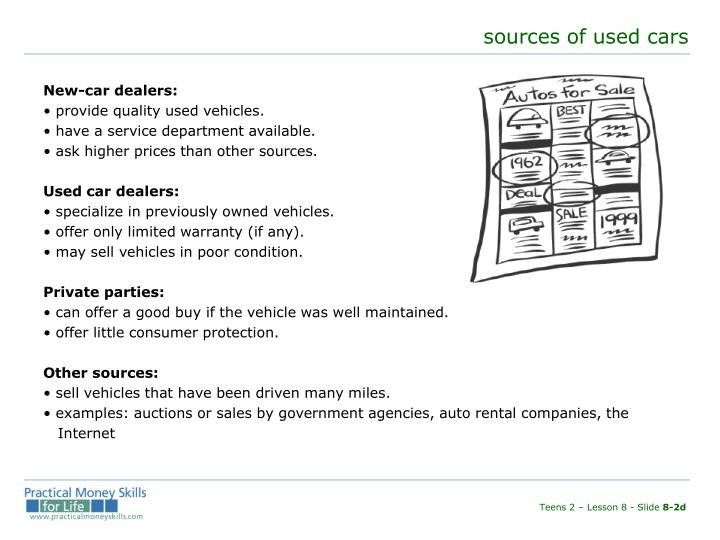sources of used cars