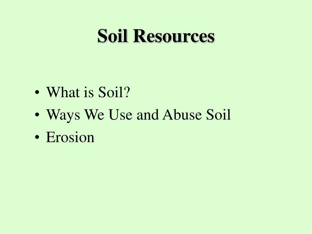 Ppt food and agriculture powerpoint presentation id 151061 for About soil resources