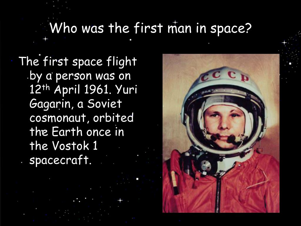 Who was the first man in space?