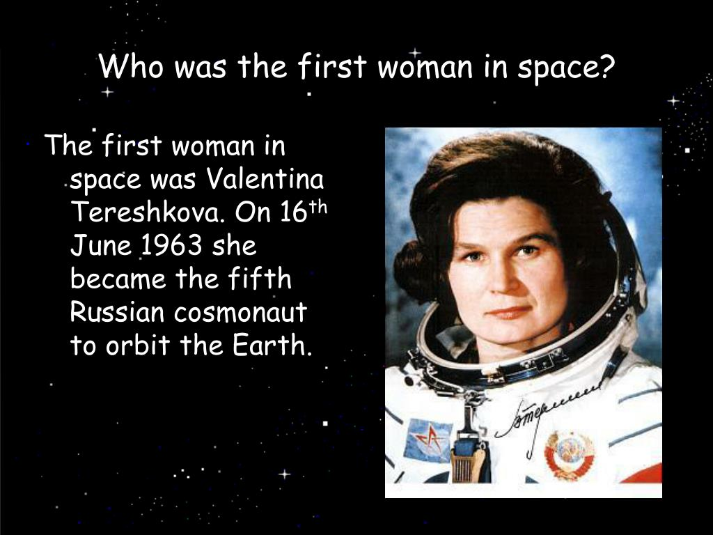 Who was the first woman in space?