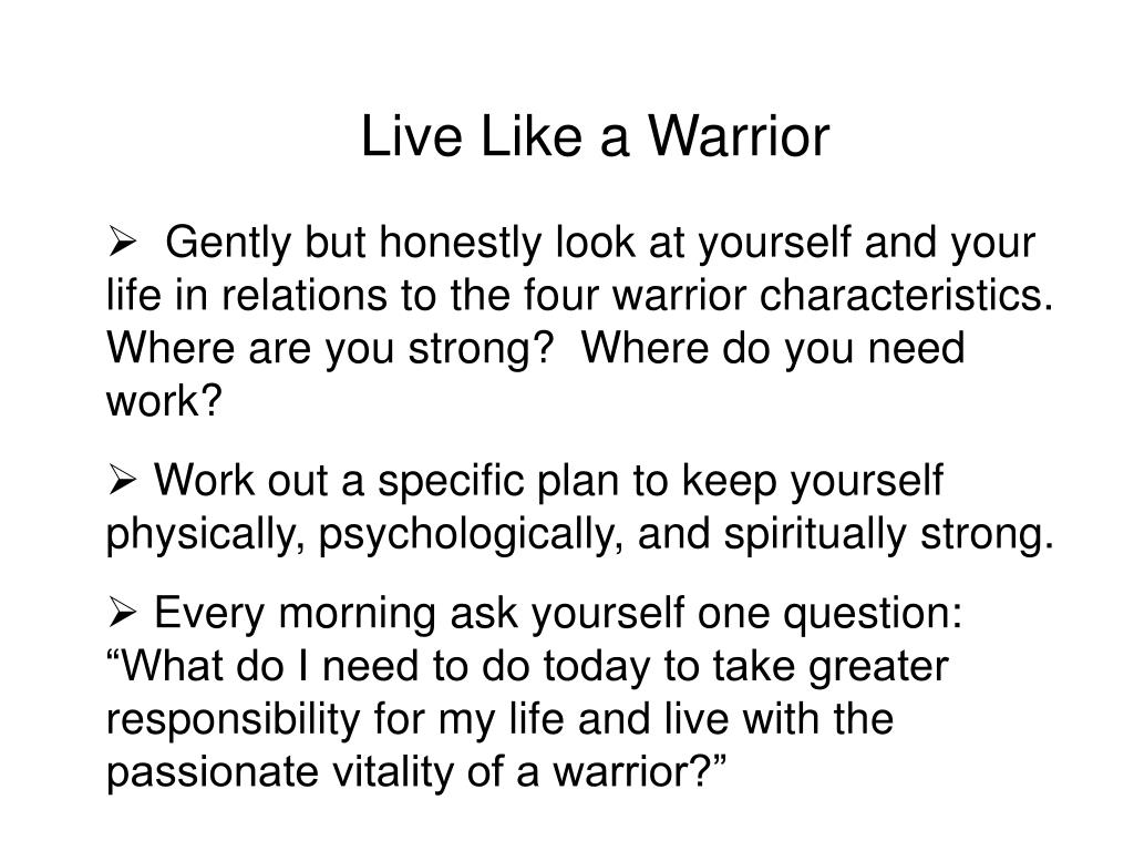 Live Like a Warrior