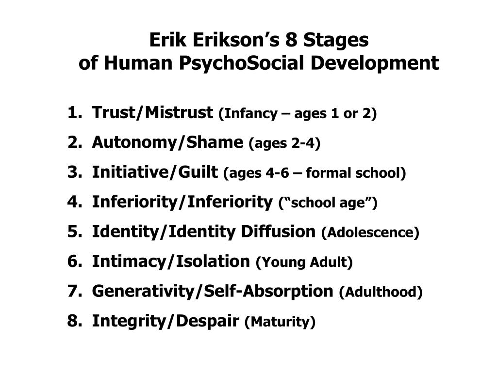 Erik Erikson's 8 Stages
