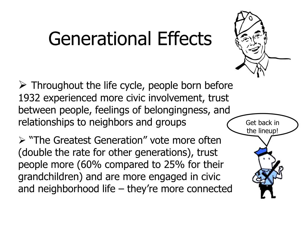 Generational Effects