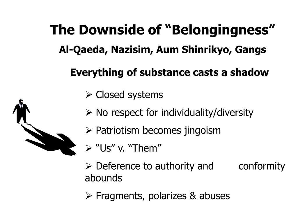 "The Downside of ""Belongingness"""