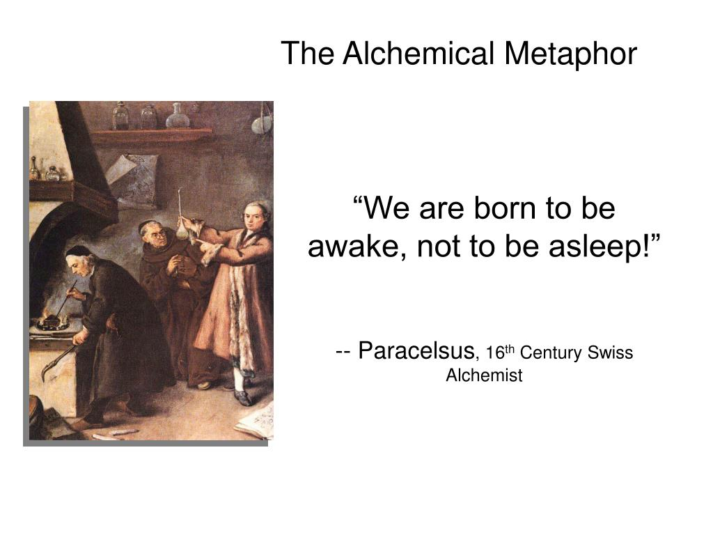 The Alchemical Metaphor