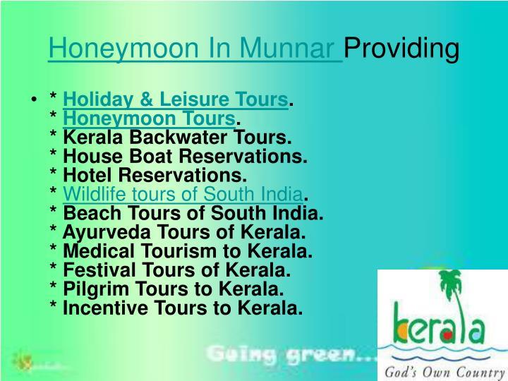 Honeymoon In Munnar
