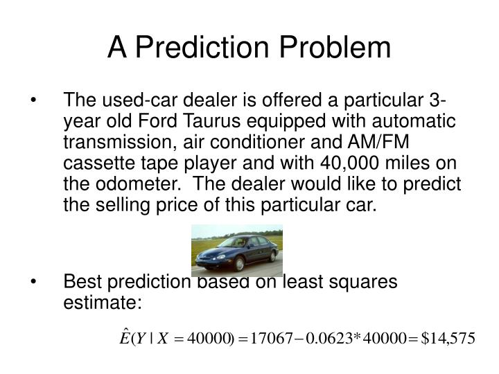A Prediction Problem