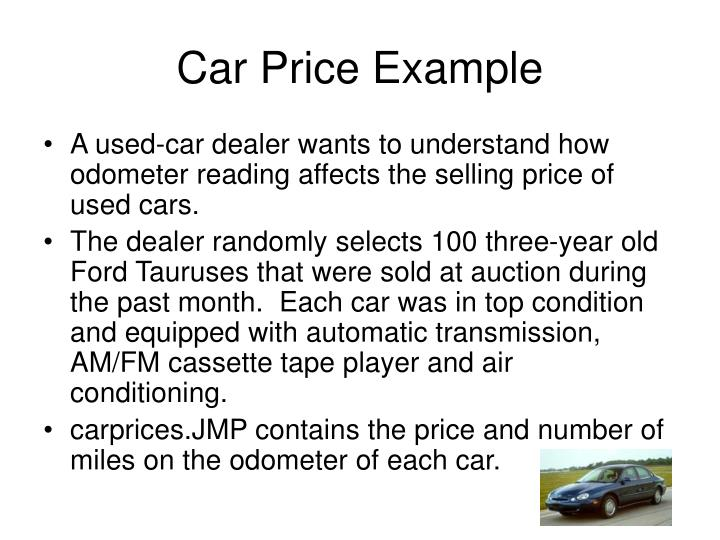 Car Price Example