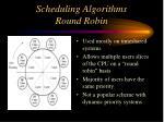 scheduling algorithms round robin