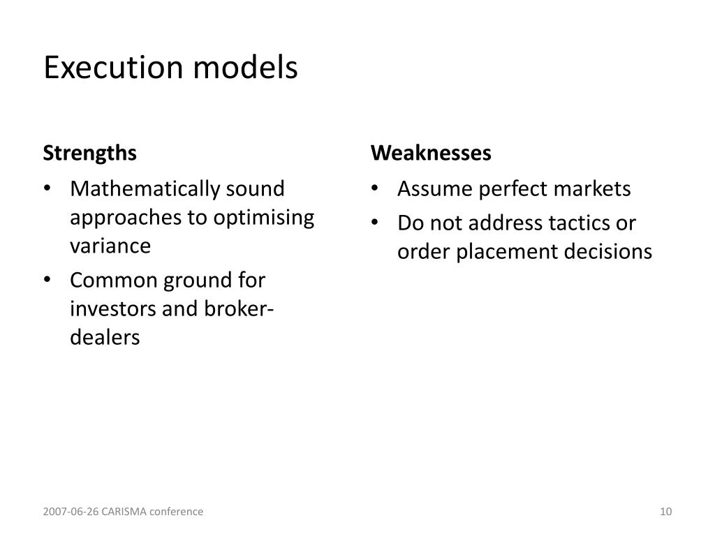Execution models