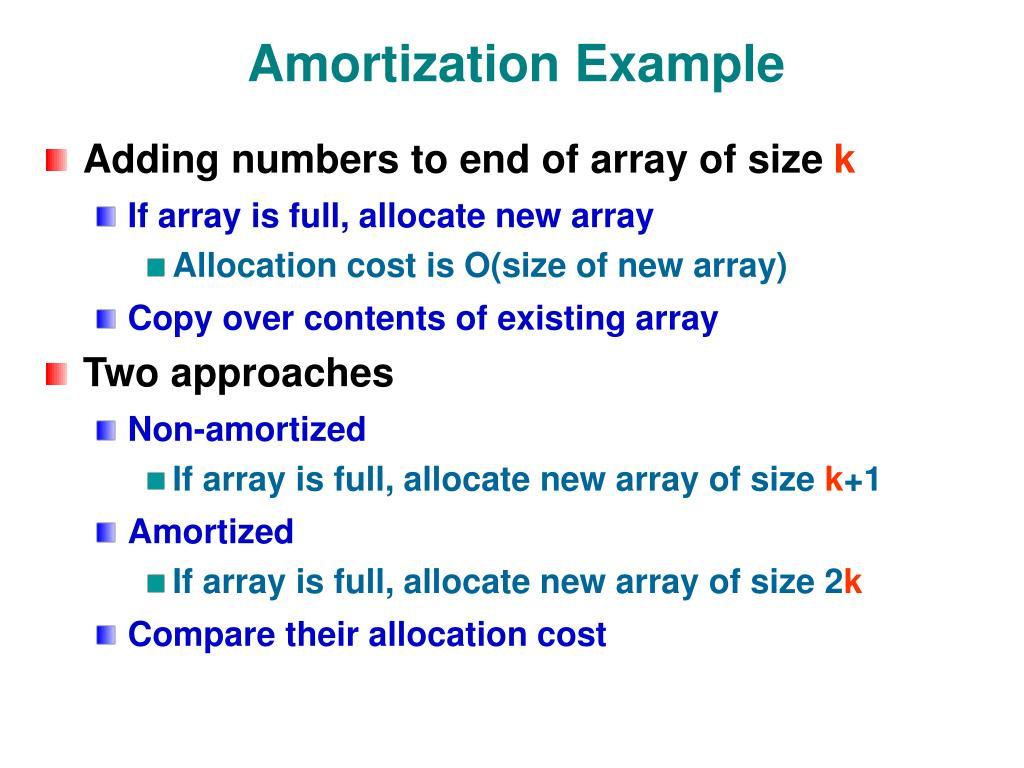 Amortization Example