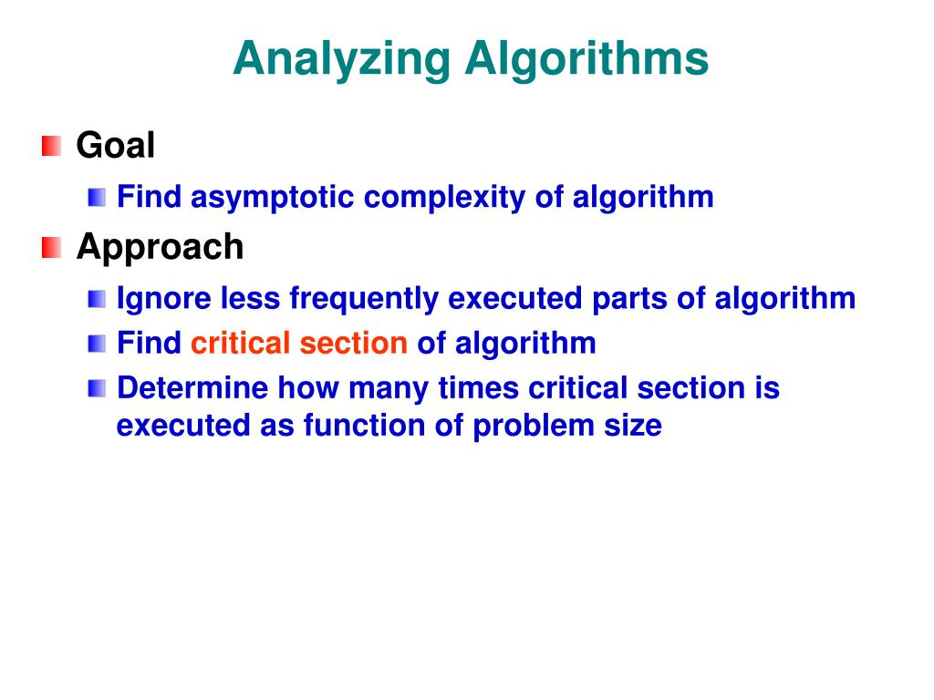 Analyzing Algorithms