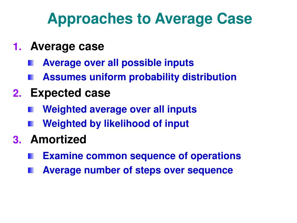 Approaches to Average Case