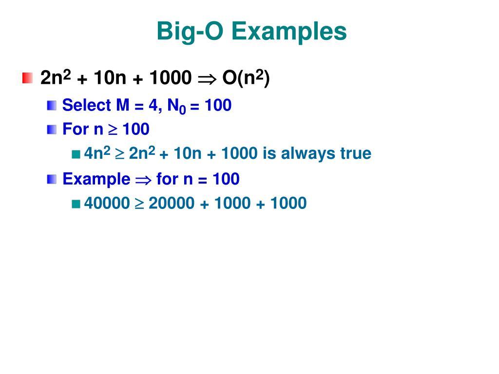 Big-O Examples
