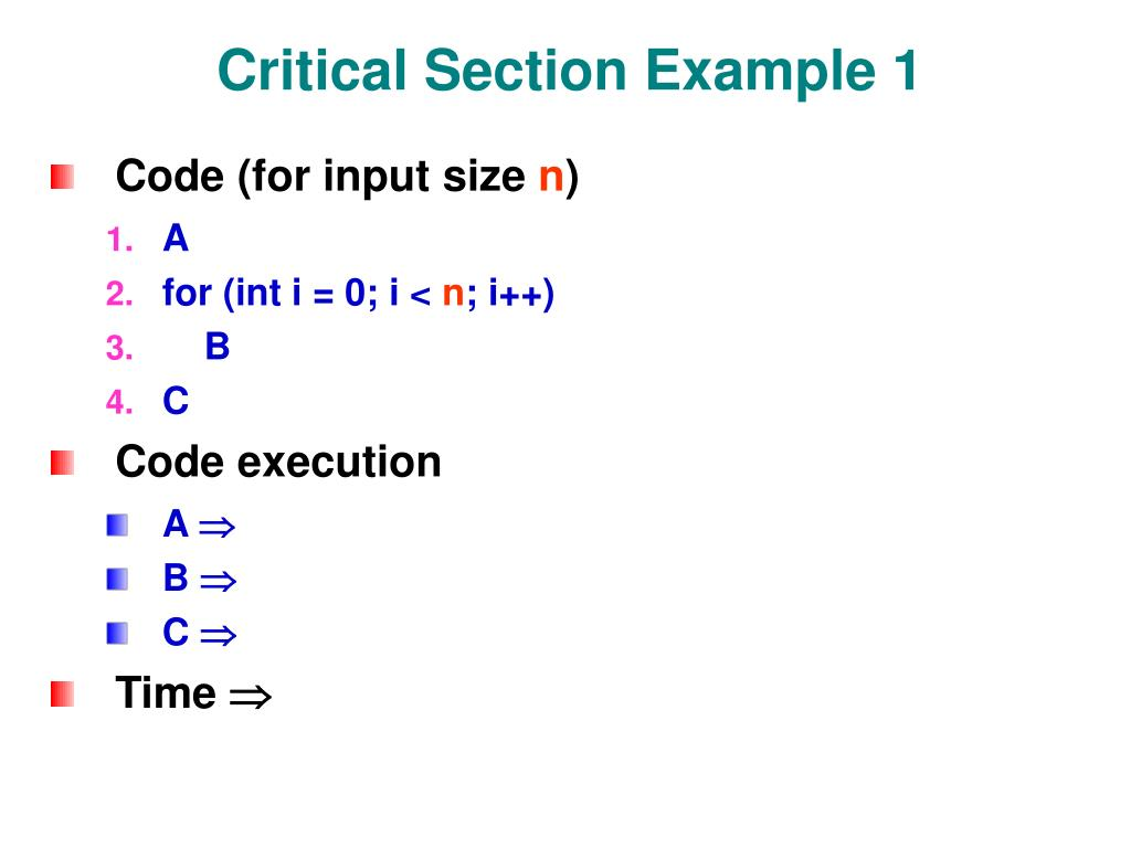 Critical Section Example 1