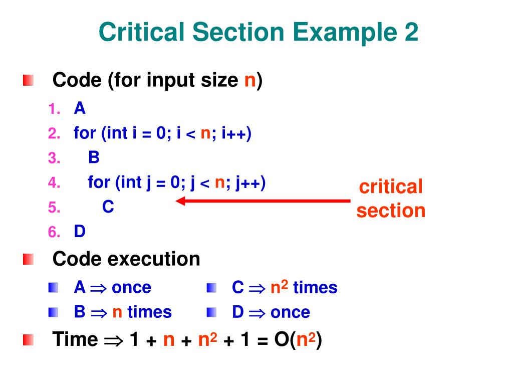 Critical Section Example 2
