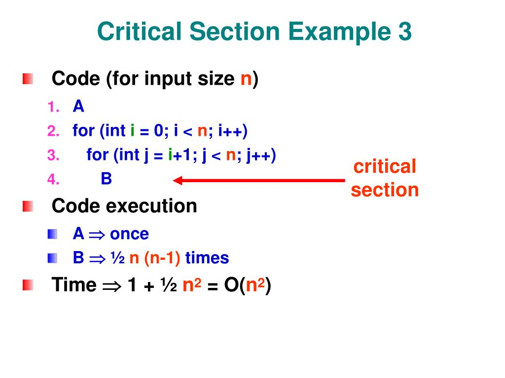 Critical Section Example 3